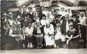 Mill Workers Dressed up for the Coronation of Queen Elizabeth II