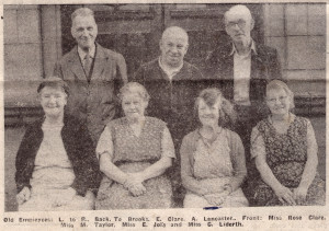 Newspaper Article about Long Serving Workers at Talbot Mill