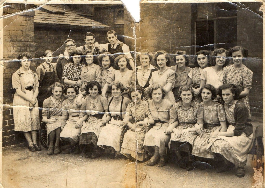 Workers at Talbot Mill, Chorley