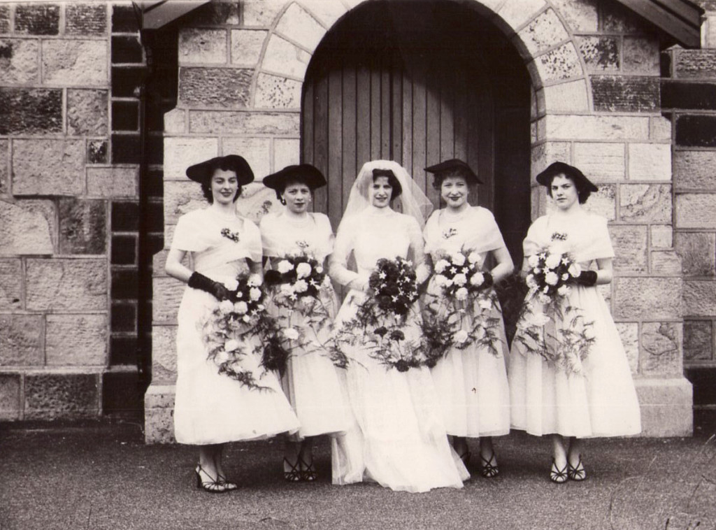 the wedding of Mary Wrightson and Cyril Gilman at St Paul's Withnell circa 1958