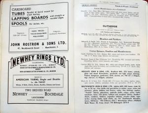 Lancashire Mills Trade Directory